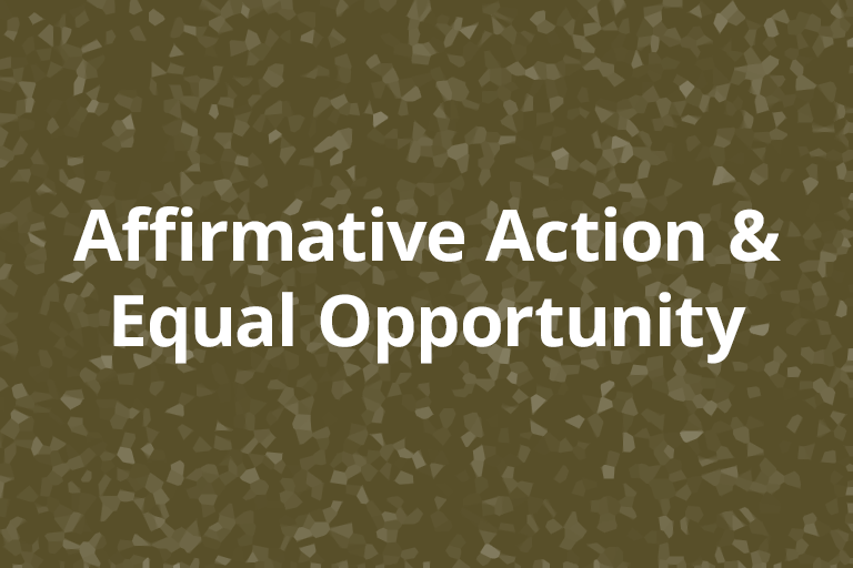 Affirmative Action and Equal Opportunity