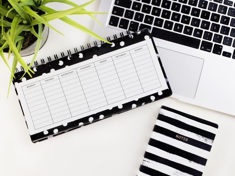 image of an organizer and calender