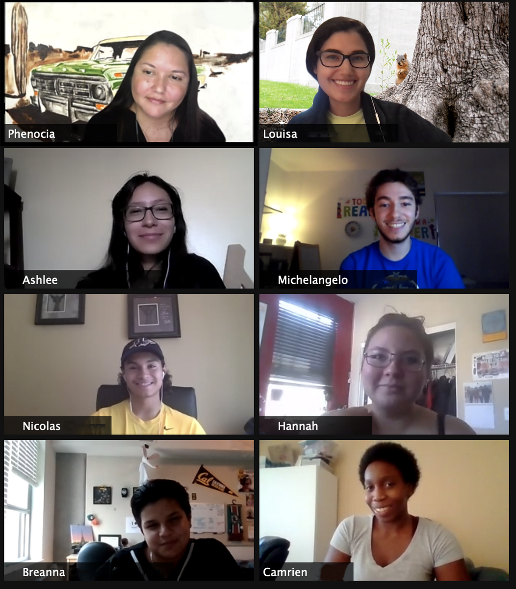 First Zoom-Era seminar of Native American Theme Program students