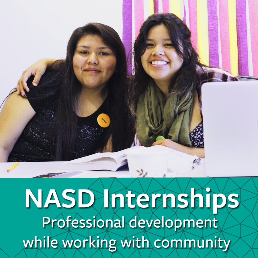 Internships: Professional Development while working with community links to information about internships