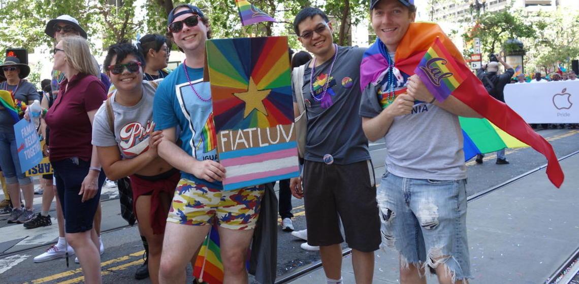 Fiat Luv at SF Pride 2018